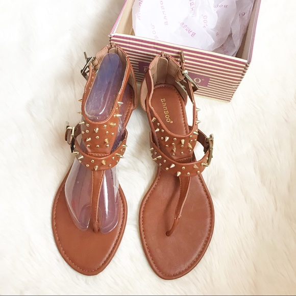 3a85efc0e201 Bamboo Size 10 New in Box Cognac Spike Sandals